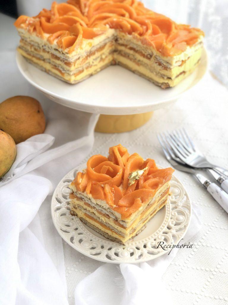 Mango Ice box cake / no bake mango cake - Reciphoria